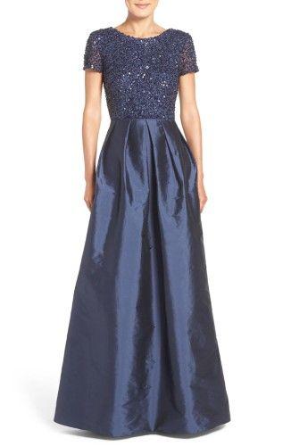 7ed57da56cf Adrianna Papell Womens Sequined Taffeta Evening Dress