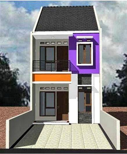 desain rumah 2 lantai di lahan sempit di malang