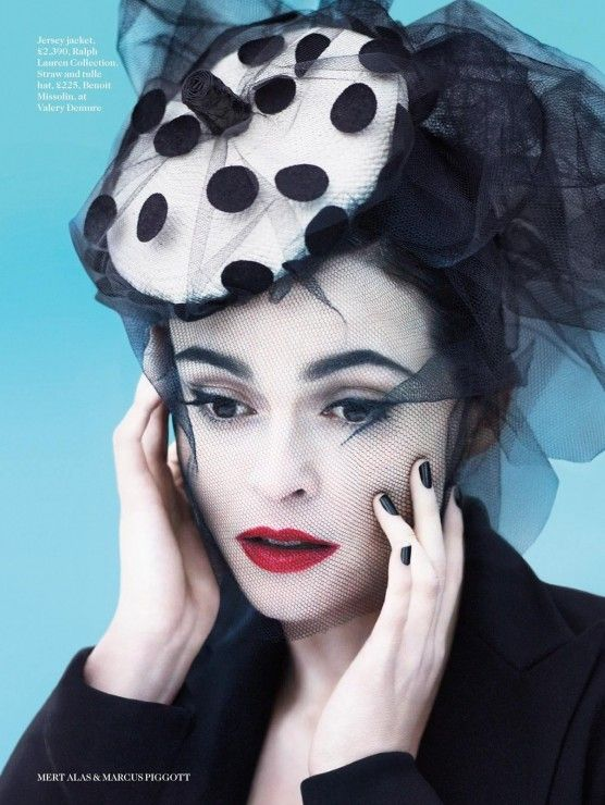 Helena Bonham Carter by Mert Alas & Marcus Piggott for Vogue UK July 2013