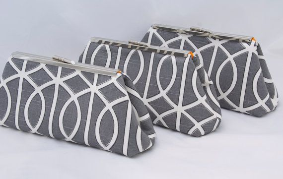 Charcoal Clutch Set Custom Design your own for by JennyGirlDesigns, $47.00