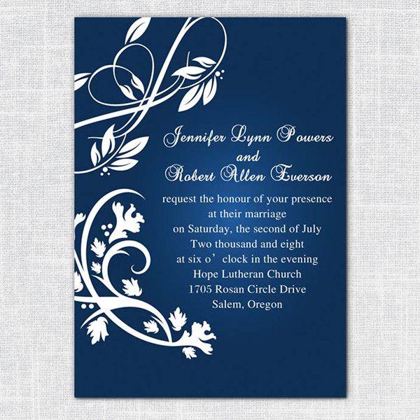Blue Wedding Invitations for 2014 Wedding Trends