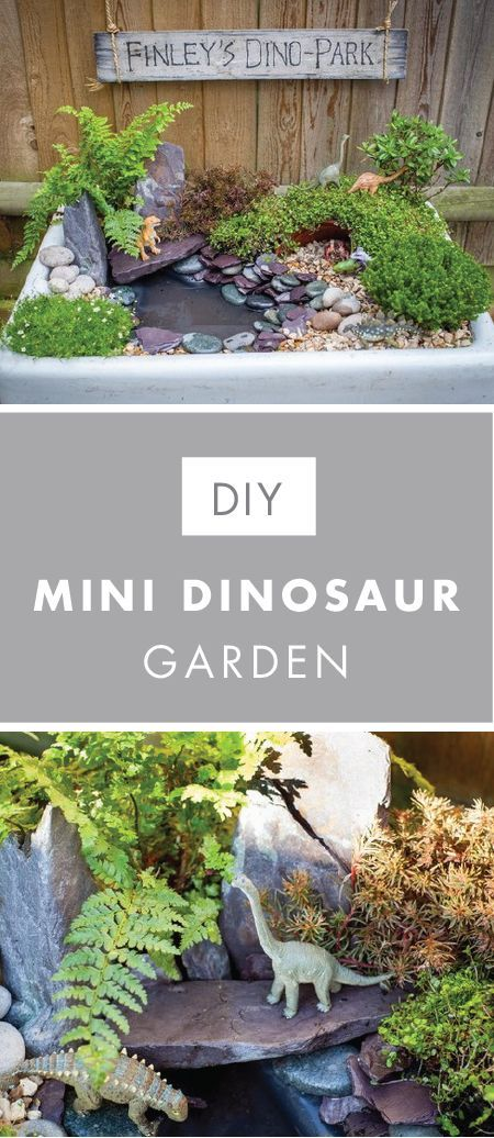 Let your little one's imagination soar this summer by taking him outside and making this DIY Mini Dinosaur Garden with help from Jo-Ann! Not only does creating his very own tropical oasis make for a great outdoor project idea, it's sure to last all season long. #dinosaur