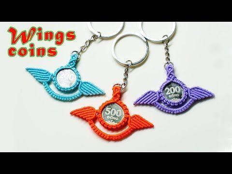 Macrame keychain tutorial give coins a pair of wings  Hướng dẫn lắp cánh cho đồng xu  YouTube keychain