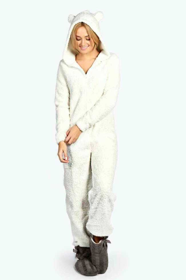 405a716fb67 Silky Super Soft Womens Animal Bear  Onesie With Ears  40.00 ...