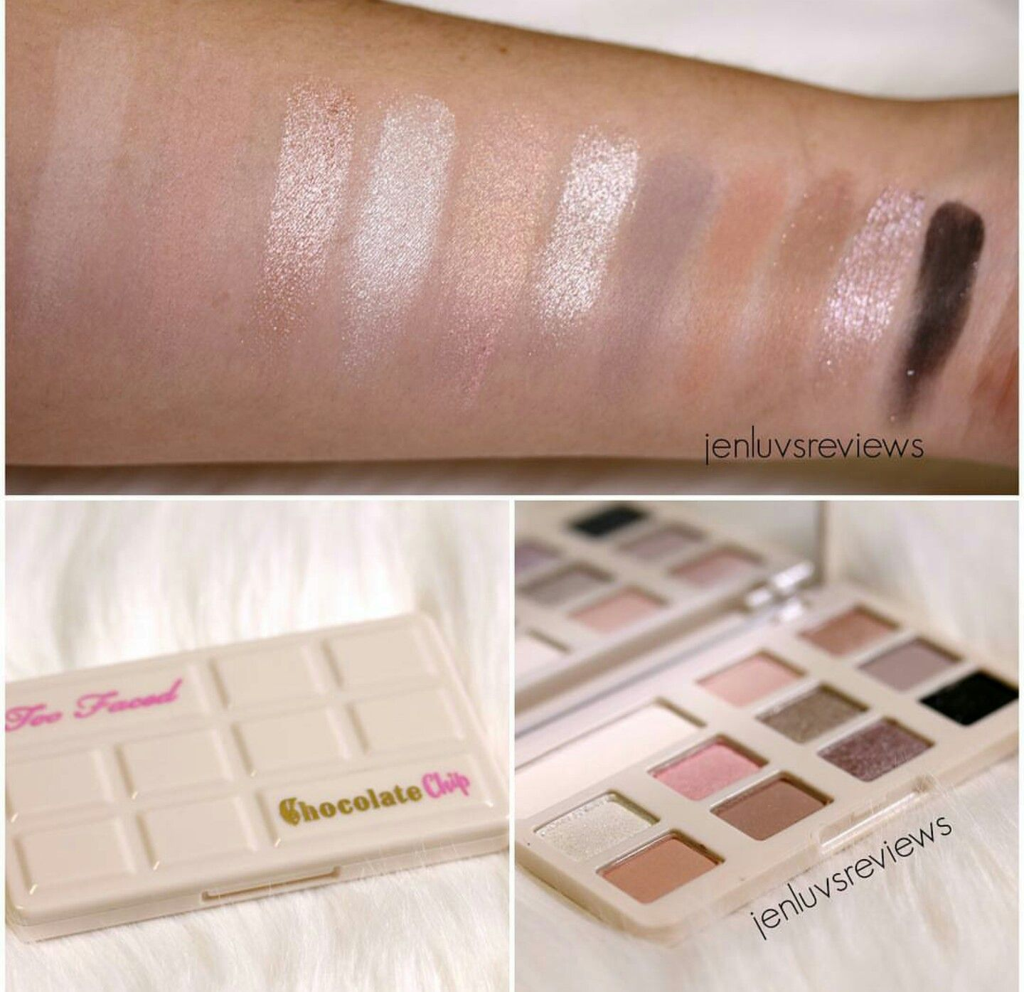 Too Faced White Chocolate Chip Palette Swatches <3 | Makeup ...