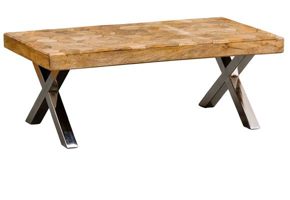 Love the geometric shapes in the top of this table ...