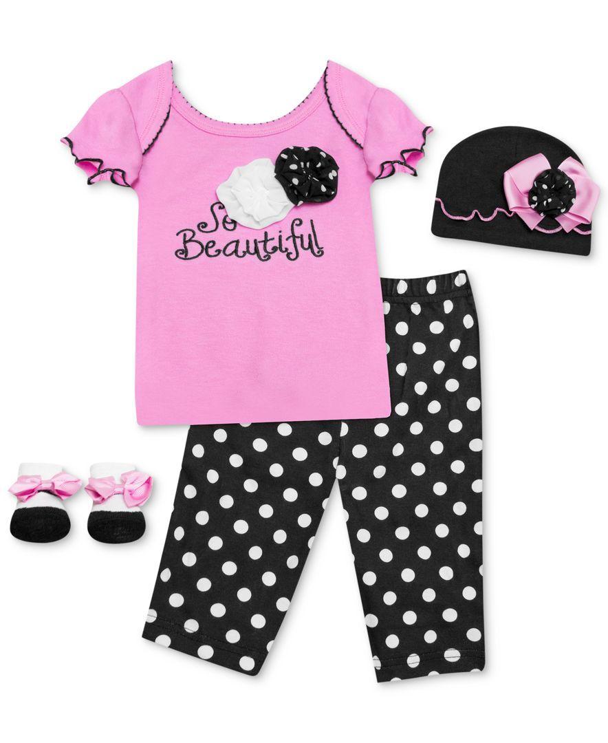 Baby Essentials Baby Girls' 4-Piece So Beautiful Set