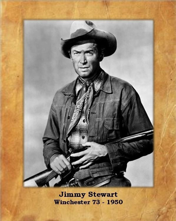 """Jimmy Stewart,""""Winchester 73"""" 1950, 8X10 Photo with Parchment Background"""