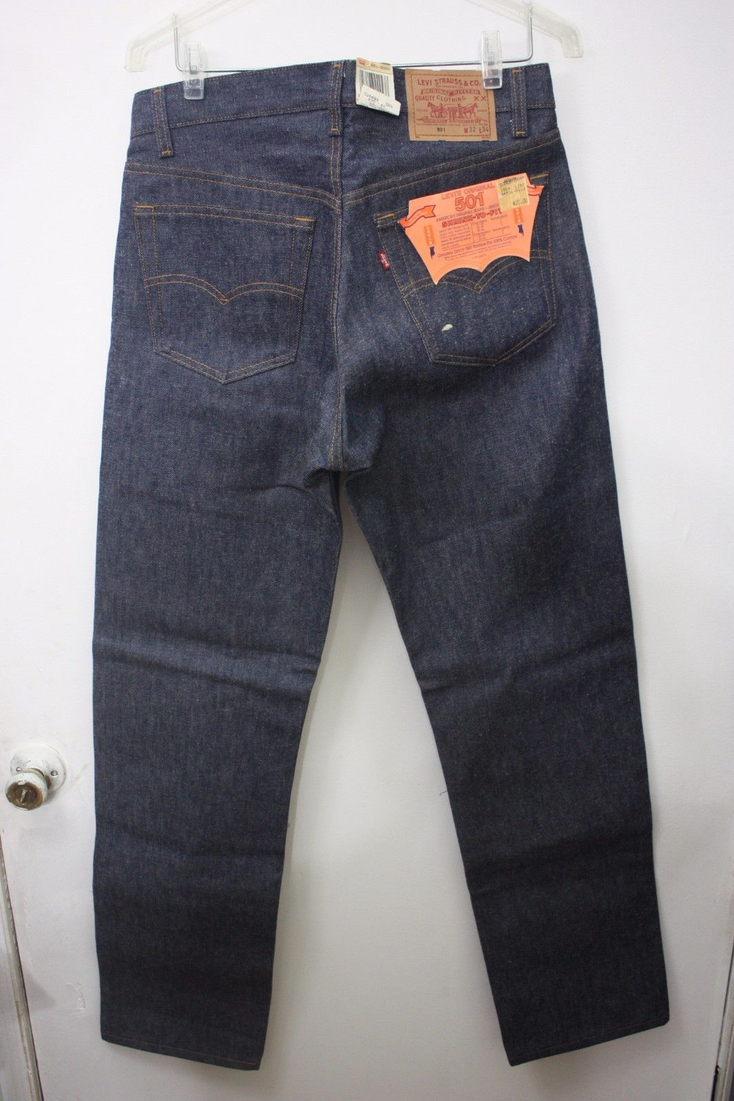 b03a9b0f746 32x34 1980's Vintage Levi's 501 Shrink to Fit Jeans Made in USA | eBay