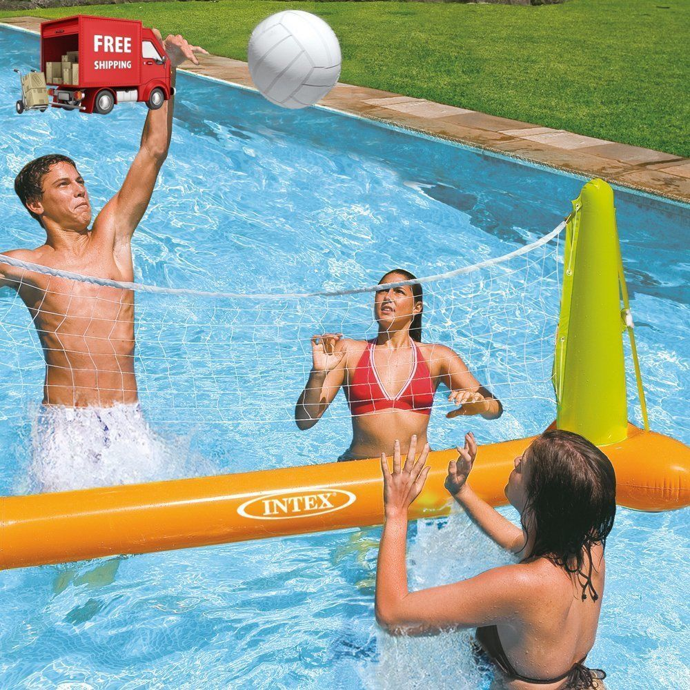 Intex Floats Pool Volleyball Game 94 X 25 X 36 For Ages 6 Free Shipping New Intex Pool Accessories Cool Swimming Pools Pool Volleyball Net