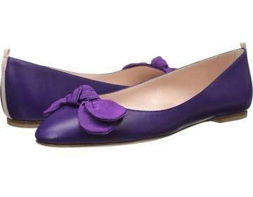 purple dress flats