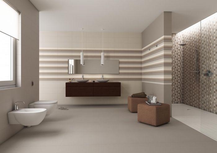 ▷ 1001 + idées déco pour adopter la couleur taupe clair chez vous - meuble salle de bain marron