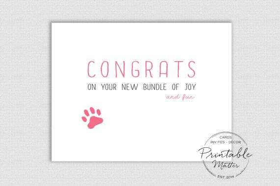 e426f385a0a New Puppy Card - New Baby Card