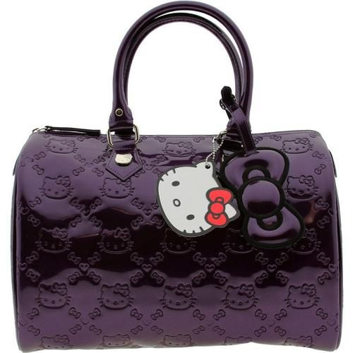 53ced51fd7 New hello kitty city bag satchel handbag purple embossed patent by ...