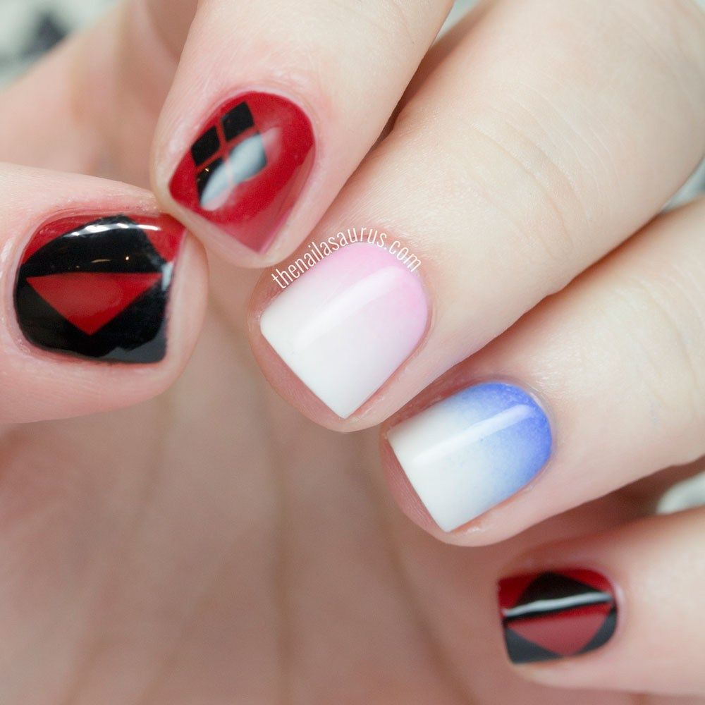 Harley Quinn Nails 3