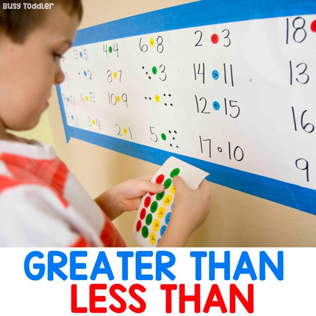 Photo of Greater Than Less Than Math Activity – Busy Toddler