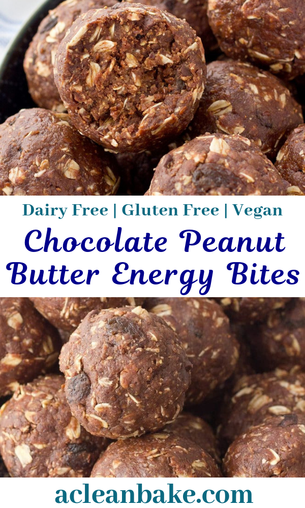 Gluten Free Chocolate Peanut Butter Energy Bites
