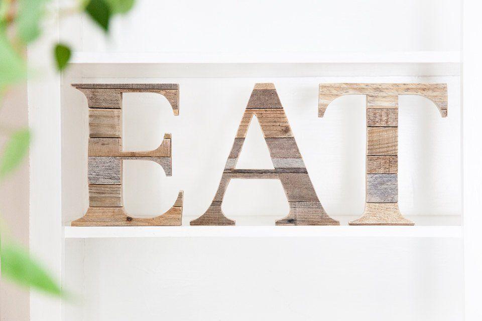 Eat Sign Eat Letters Farmhouse Decor Rustic Home Decor Rustic