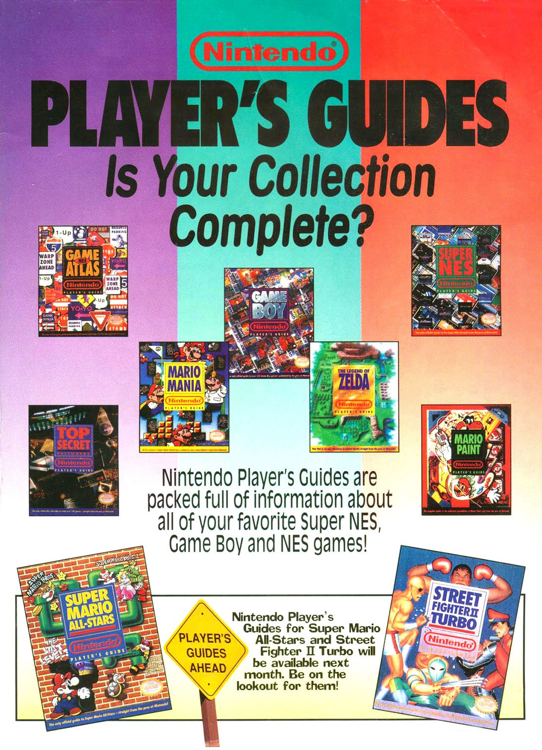 Nintendo Player's Guide Ad Is Your Collection Complete