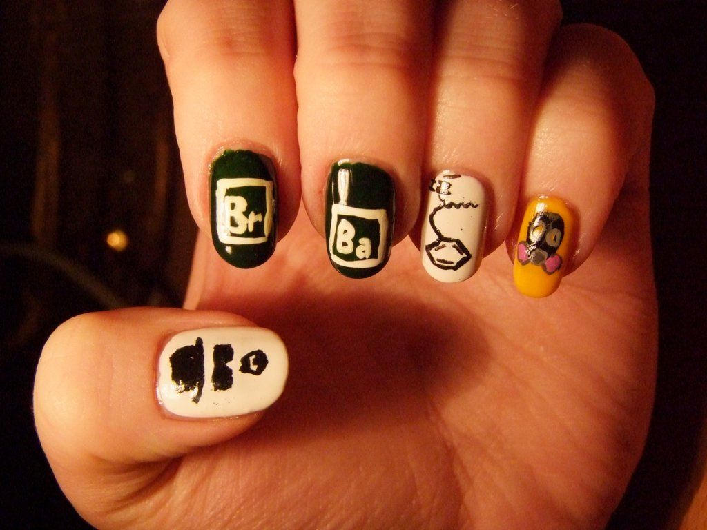 Breaking Bad Nail Art By Lyralein Nails And More Nails Pinterest