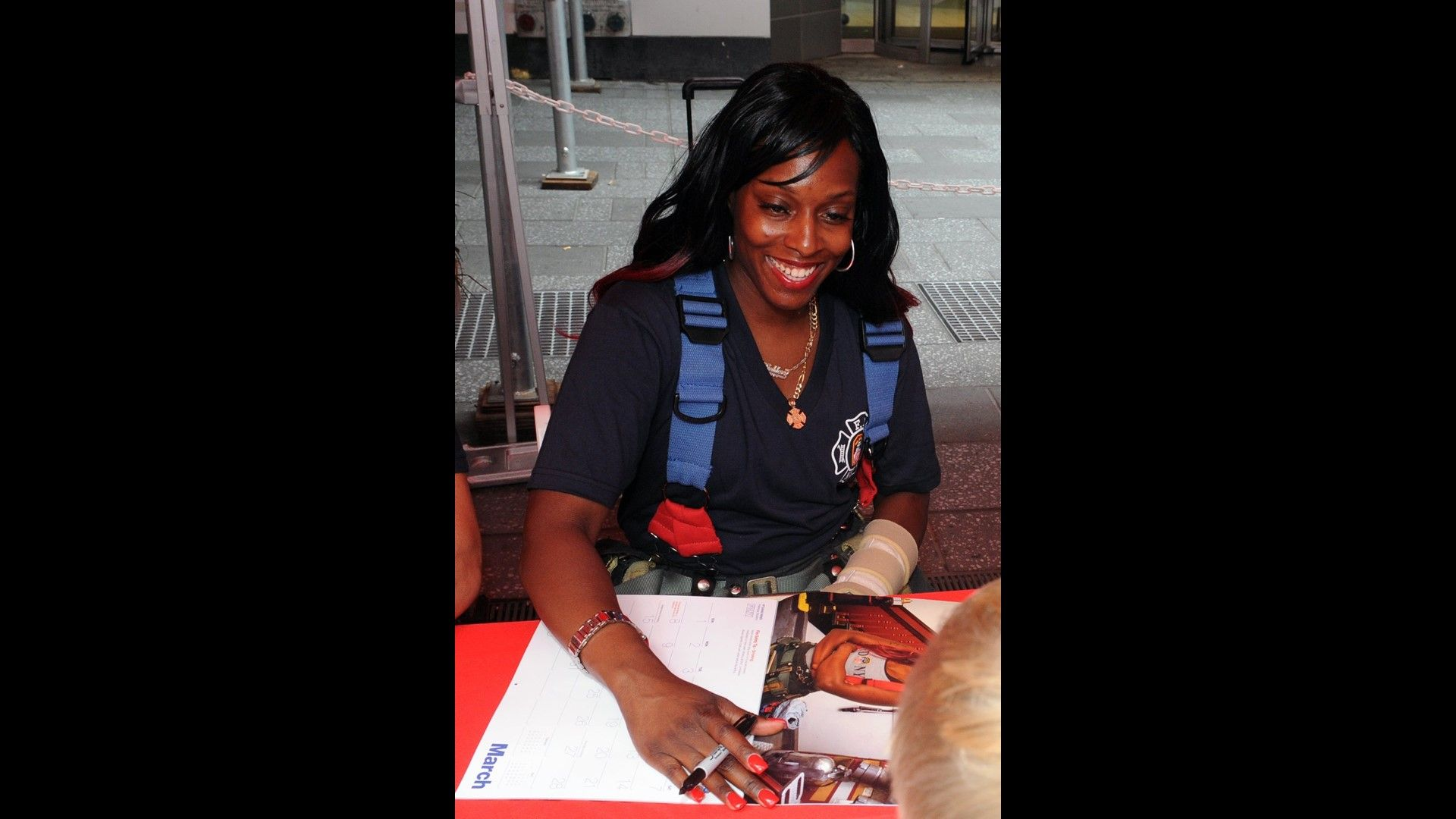 First woman firefighter poses for FDNY charity calendar