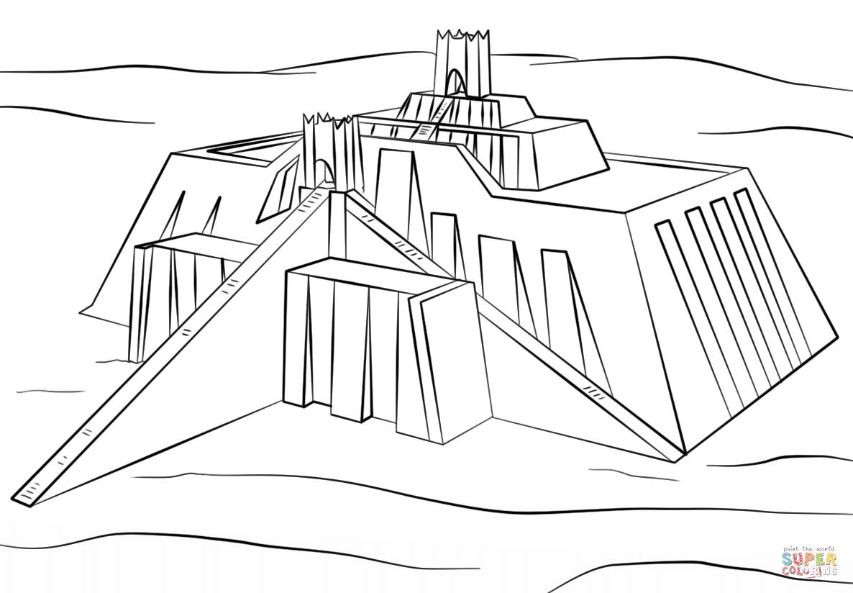 Ziggurat of Ur coloring page | Free Printable Coloring ...