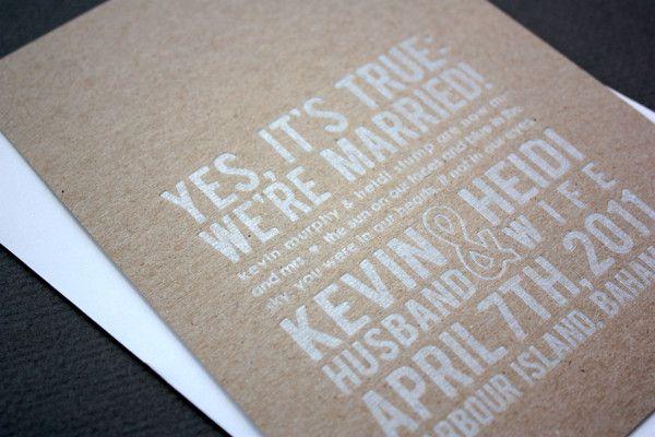 Elopement announcement | My Perfect Wedding | Pinterest ...