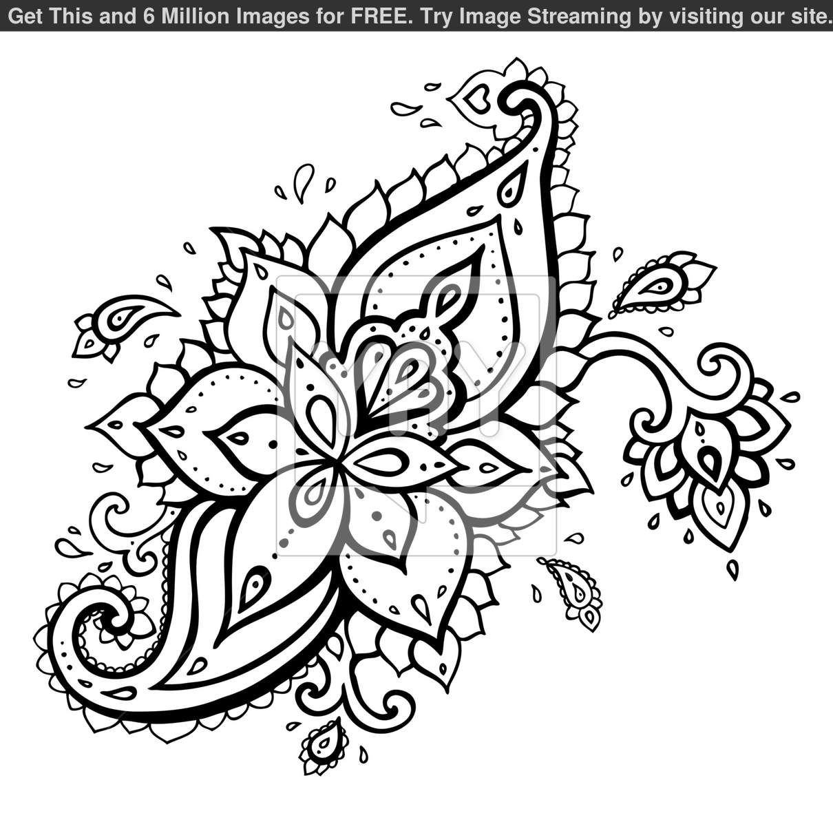 It's just a graphic of Dynamite Printable Henna Stencils