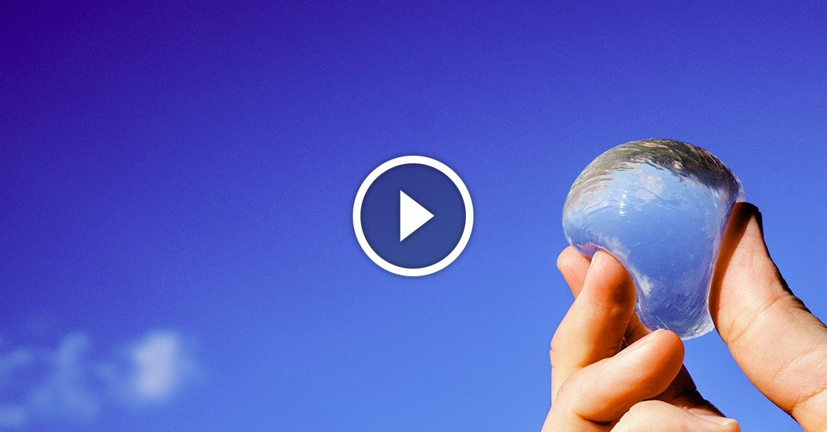 An edible alternative to the plastic water bottles that ...