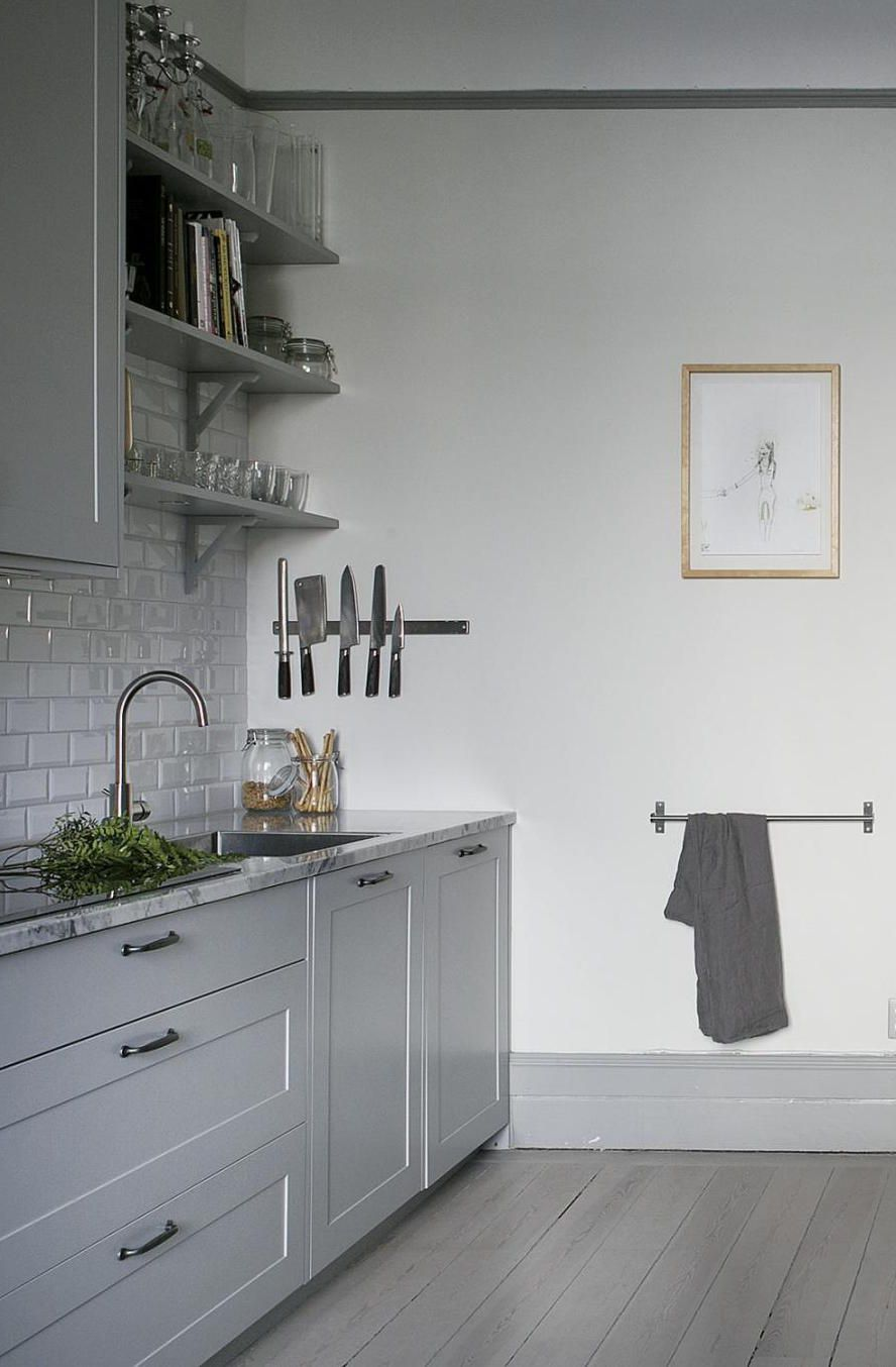 Beautiful home in grey - via Coco Lapine Design | ... Living ...