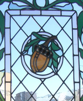 Acorn Stained Glass Leaded Glass