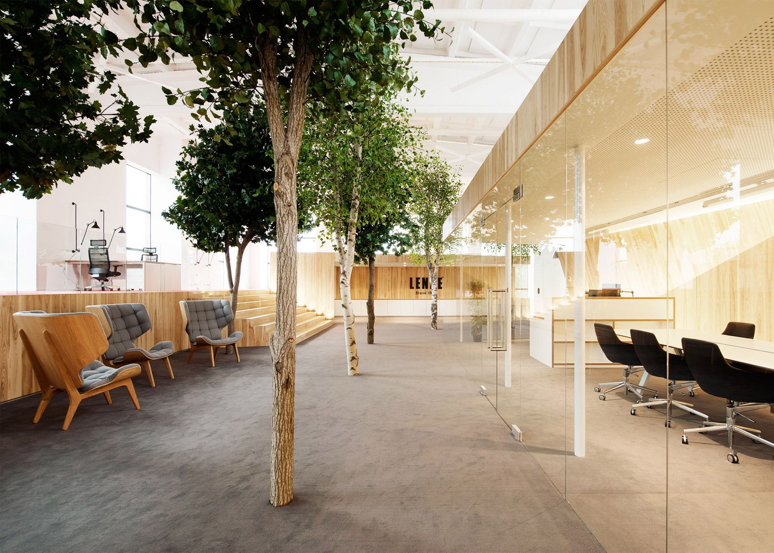 KAMP Arhitektid creates tree-filled office within former factory