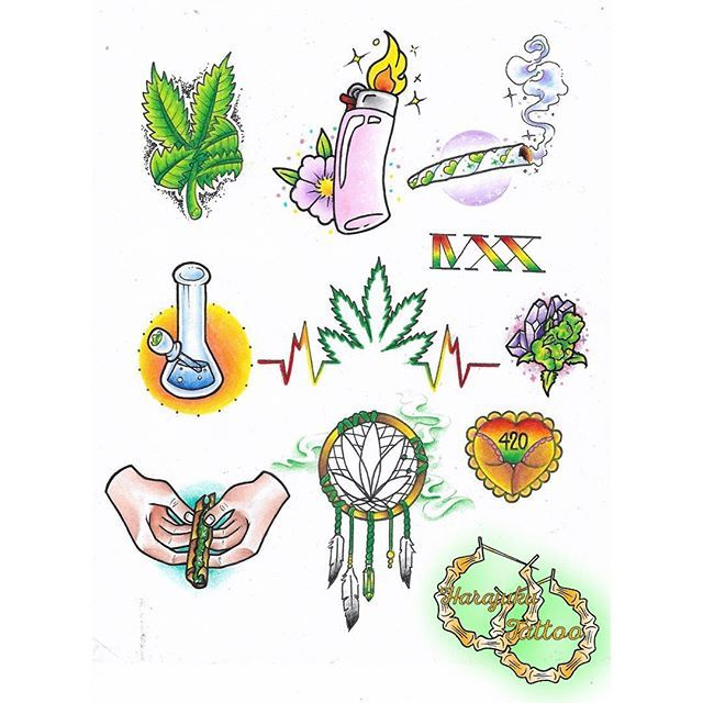 420 Weed Tattoo Designs | www.pixshark.com - Images ...