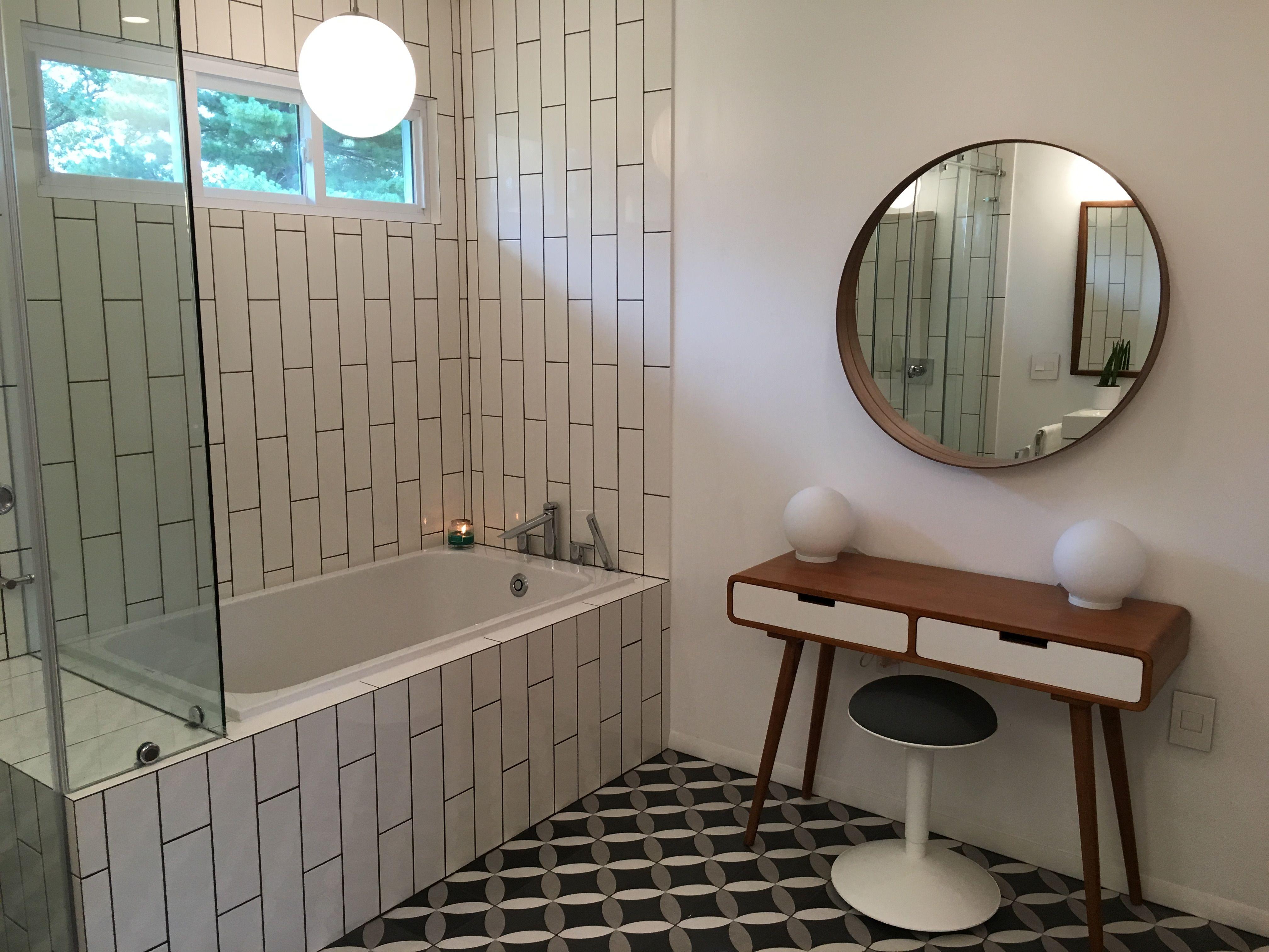duravit deep soaking tub  merola twenties petal tile  ikea