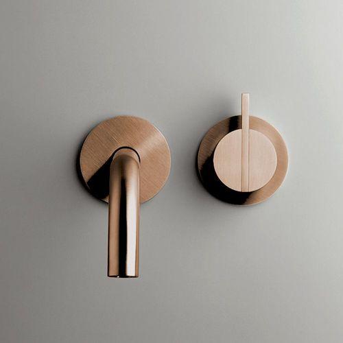 mitigeur pour lavabo / mural / en inox / en cuivre pb set01 cocoon ... - Robinet Salle De Bain Mural