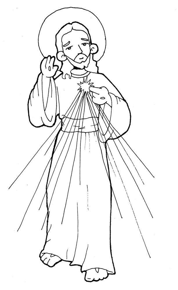 Jesús Divina Misericordia para pintar. | Jesús | Pinterest | Jesus ...