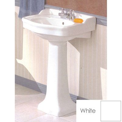 Cheviot Antique Pedestal Sink Lavatory 4 Inch Faucet Drillings Choice Of Single 4 Or 8 Center Faucet Pedestal Sinks Pedestal Sink Antique Bathroom Sink