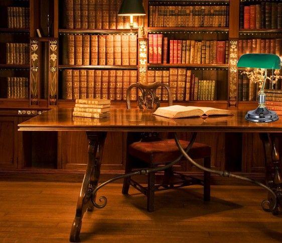 Br Base European Style Antique Vintage Banker Table Lamp