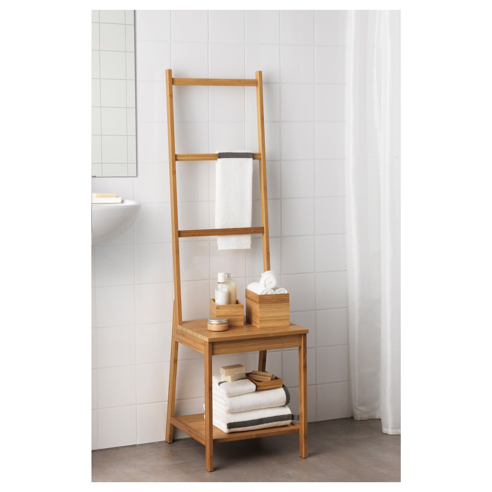 R Grund Chair With Towel Rack  Ikea