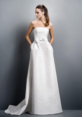 Jesus Peiro Simple Wedding dress with small bow.