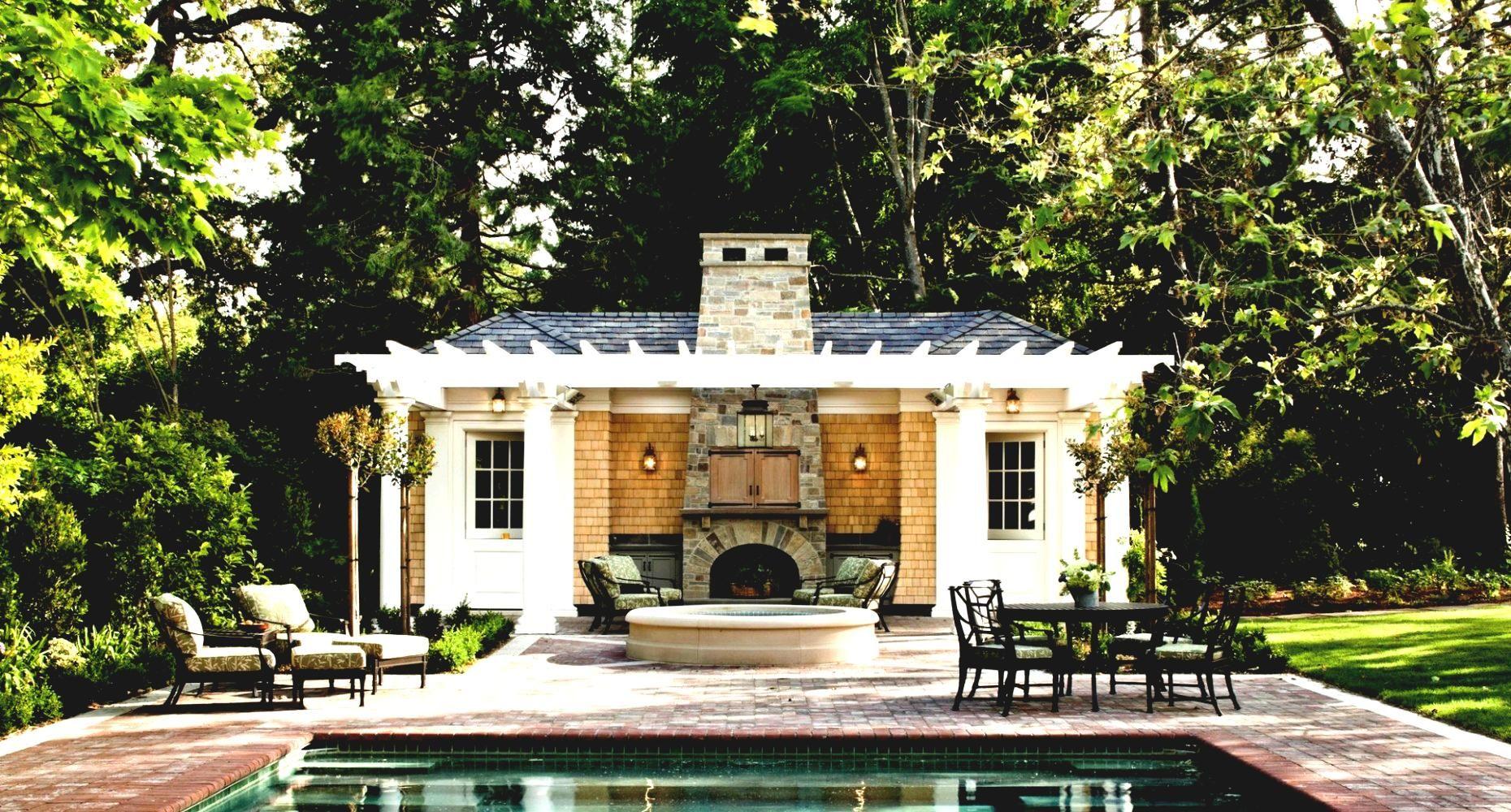 backyard pool houses and cabanas 8 pool house cabana with