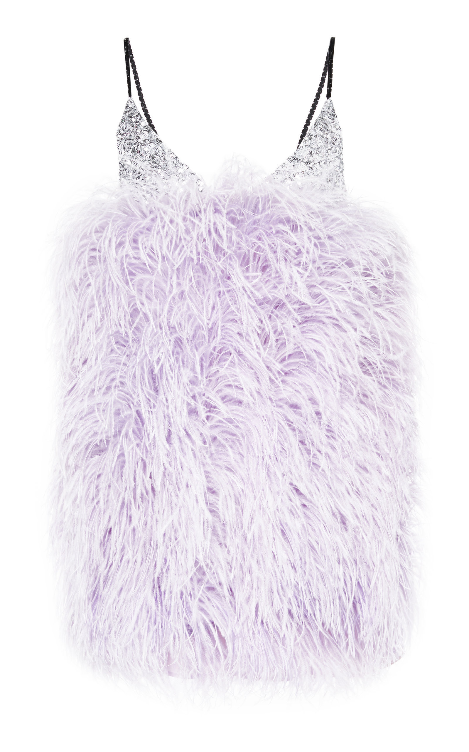 e6bd867e34c2d Sequin-Embellished Feather Mini Dress by ATTICO Now Available on Moda  Operandi
