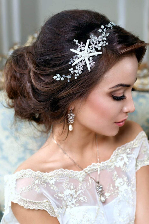 beach wedding tiara,bridal hair clip Wedding headpiece crystal hair vine rhinestone hairpiece Silver bridal hair piece hair accessories