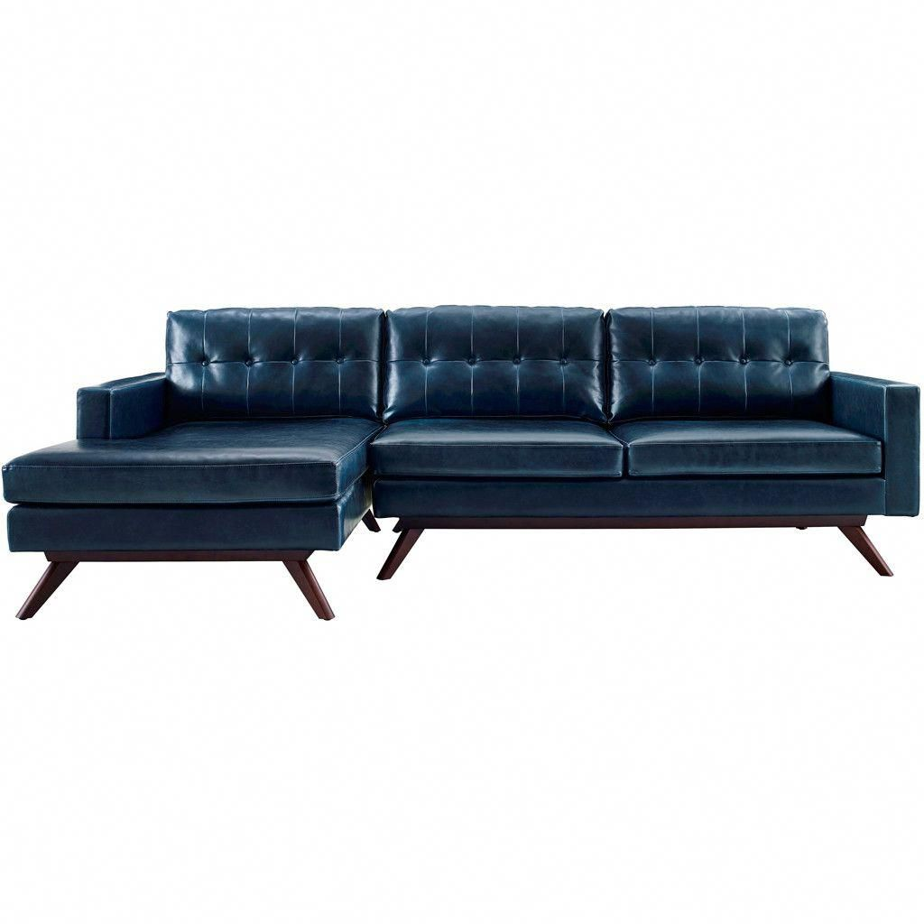 Blair Antique Blue LAF Sectional | A Few Black Leather Sofa Ideas in ...