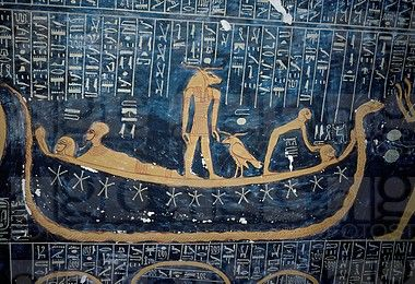 Valley of the Kings. Detail of wall painting in tomb of Ramses VI 1143-1136 BC (20th Dynasty).