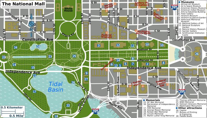 photo regarding Printable Walking Map of Washington Dc called Looking into Washington DC Upon A Price range DC Washington dc map
