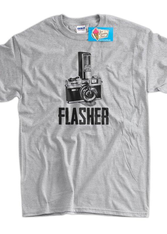 3b850276ff Flasher Retro Camera Photography Gifts for Photographers Tshirt T-Shirt Tee  Shirt Mens Womens Ladies