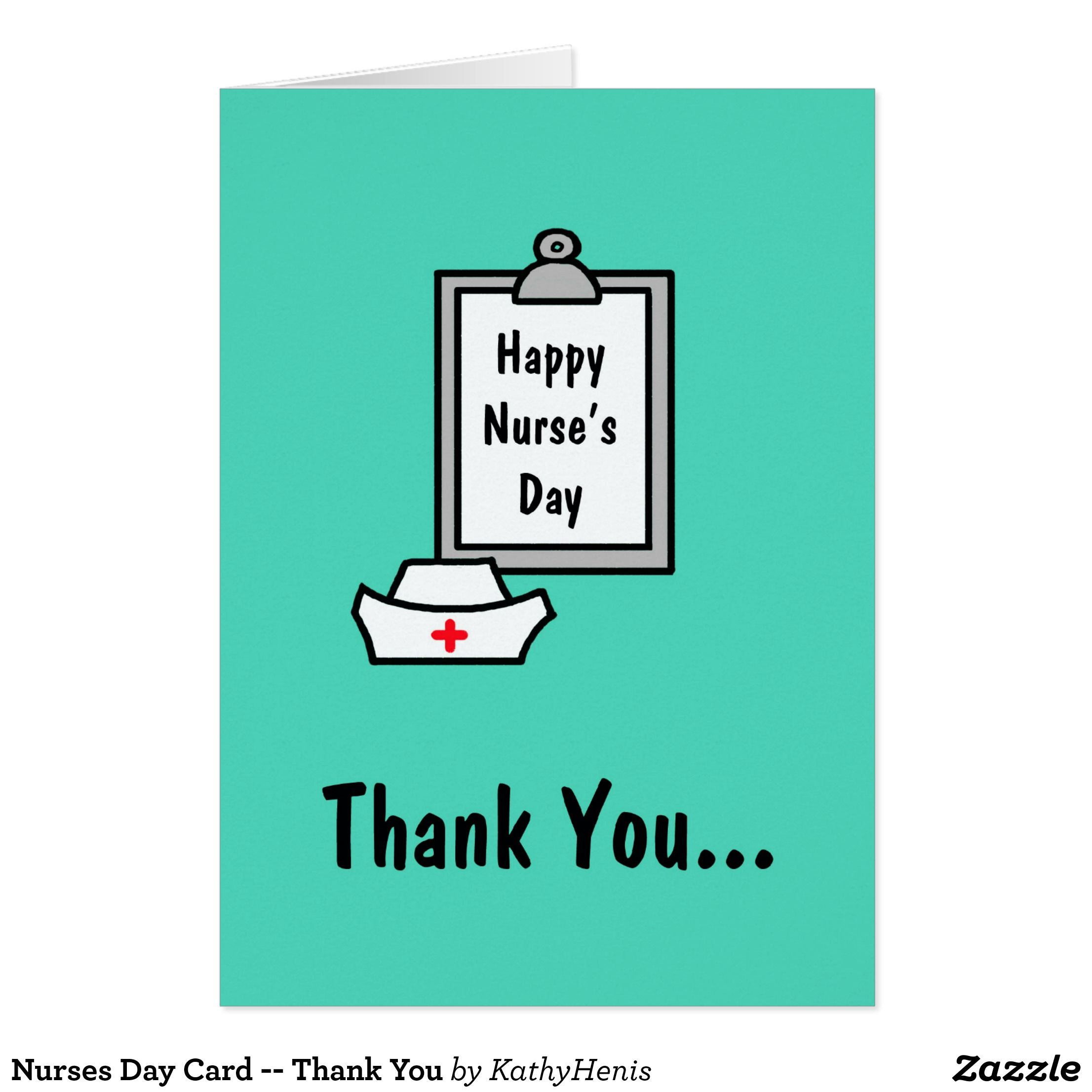 Nurses Day Card Thank You Staff Messages Pinterest