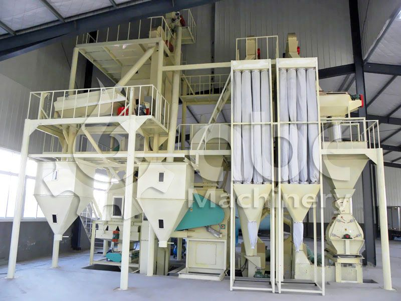 small poultry feed plant design for 2-5ton/h production line