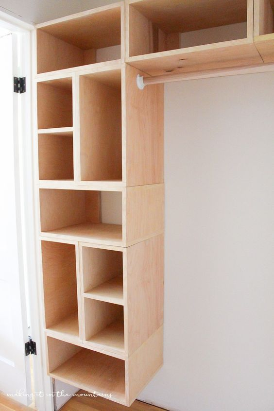 Diy custom closet organizer the brilliant box system pinterest this brilliant diy custom closet organizer is not only easy to build but makes creating your own custom closet configuration both simple and affordable solutioingenieria Image collections